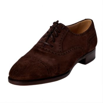 TLB Dark Brown Suede Semi-Brogue 7.5UK