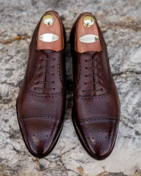 TLB GMTO Antique Brown Pebble Grain Semi-Brogue