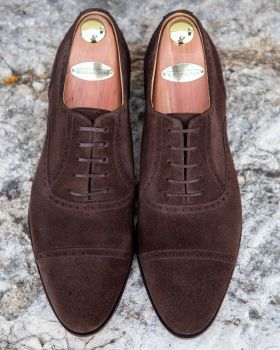 TLB GMTO Dark Brown Suede Semi-Brogue