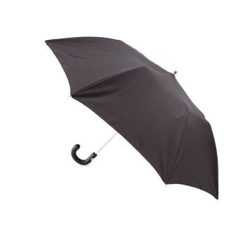 Travel Size Black Pigskin Handled Lord's Umbrella