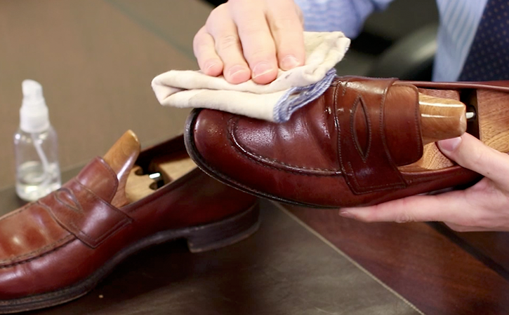 Step 1: Clean Shoe with a Damp Cloth