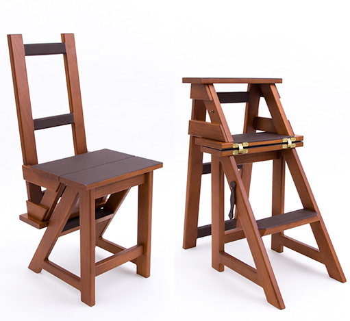 Cherrywood Dressing Chair & Step Ladder