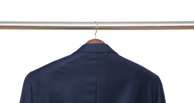 A Properly-Sized Jacket Hanger from The Hanger Project