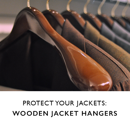 Protect You Jackets with Wooden Hangers