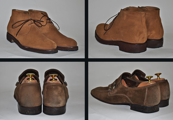 how to clean suede shoews