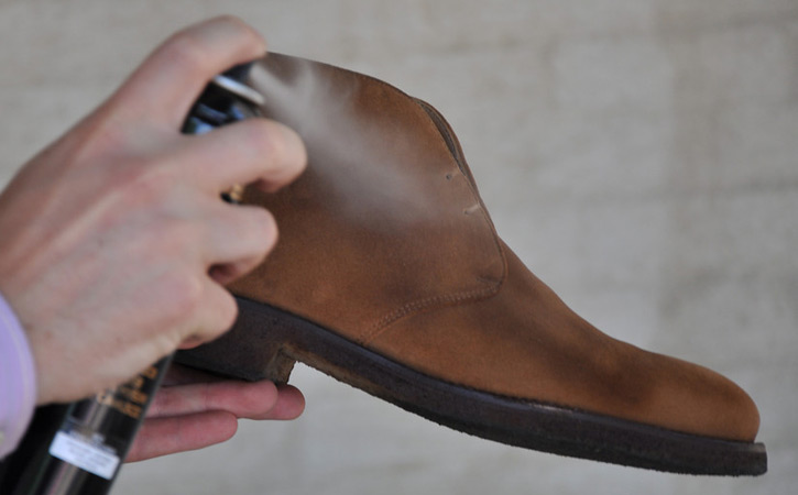 Use Saphir Renovating Suede Spray to Condition and Recolor Suede Shoes
